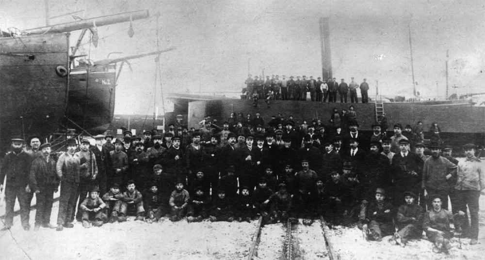 Meidericher Schiffswerft MSW Duisburg - Belegschaft 1913