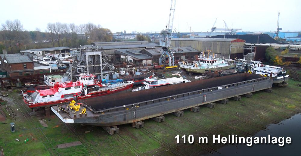 Meidericher Schiffswerft MSW Duisburg - Schiffsreparatur Hellinganlage