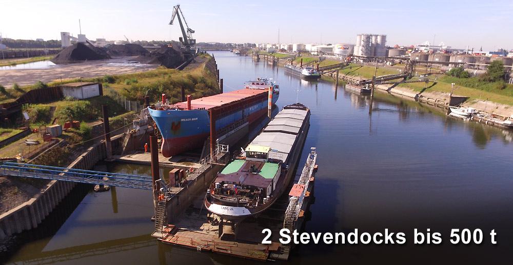 Meidericher Schiffswerft MSW Duisburg - Schiffsreparatur Stevendocks